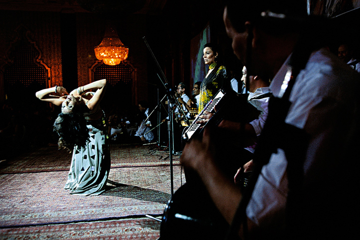 Egypt. Cairo. The controversy Dina and her private orchestra